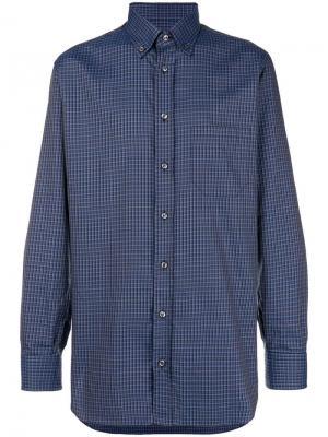 Square print shirt Brioni. Цвет: синий