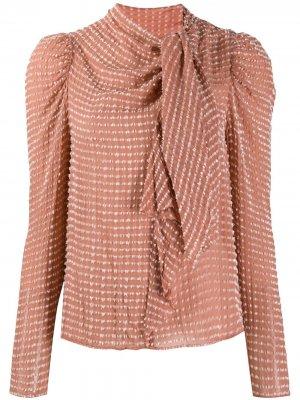 Блузка с драпировкой Ulla Johnson. Цвет: розовый
