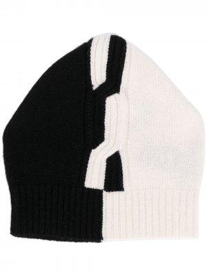 Вязаная шапка бини D.Exterior. Цвет: нейтральные цвета