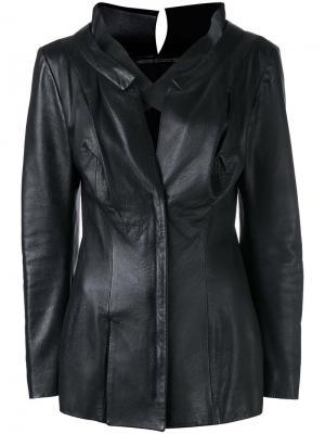 Приталенная удлиненная куртка Yohji Yamamoto Vintage. Цвет: черный
