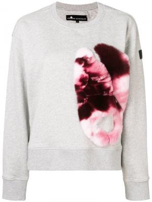 Asymmetric sweatshirt Moose Knuckles. Цвет: серый