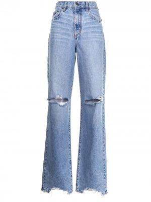 Прямые джинсы Lou с завышенной талией Nobody Denim. Цвет: синий
