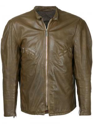 Кожаная куртка Schott 1960-х годов Fake Alpha Vintage. Цвет: коричневый