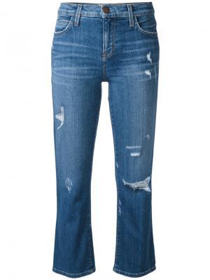 Укороченные джинсы Current/Elliott. Цвет: синий