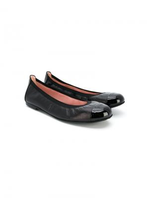 TEEN classic ballerina shoes Pretty Ballerinas Kids. Цвет: черный