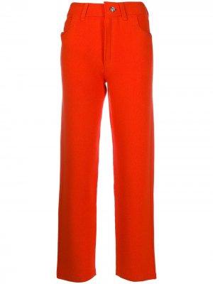 Укороченные брюки бойфренды с завышенной талией Barrie. Цвет: оранжевый