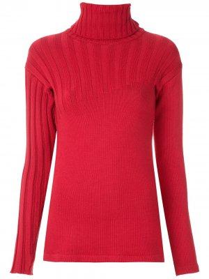 Трикотажная блузка с высоким воротником Gloria Coelho. Цвет: красный