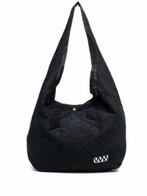 Стеганая сумка на плечо White Mountaineering. Цвет: черный