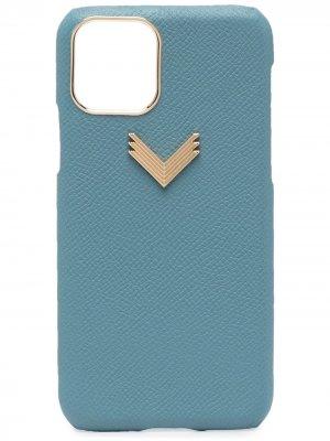Чехол для iPhone 11 Pro с логотипом Manokhi. Цвет: синий