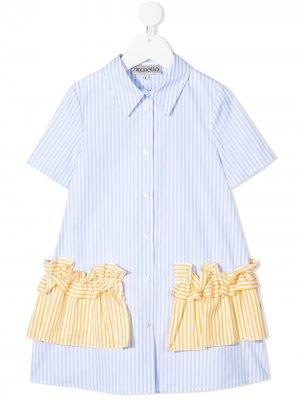 Платье-рубашка в полоску Simonetta. Цвет: синий
