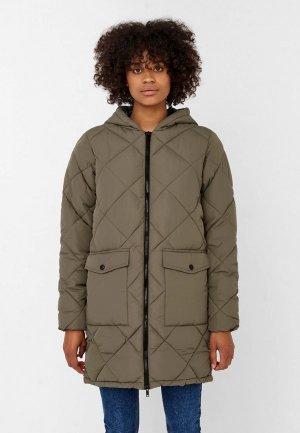 Куртка утепленная Noisy May. Цвет: хаки