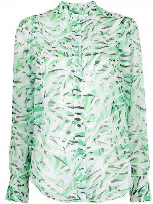 Блузка с принтом Chayce Equipment. Цвет: зеленый