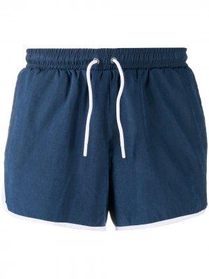 Спортивные шорты с контрастной окантовкой Esteban Cortazar. Цвет: синий