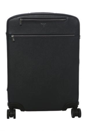 Кожаный чемодан SERAPIAN. Цвет: темно-синий (blu navy 021)