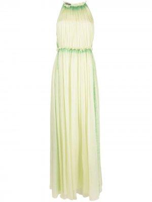 Вечернее платье с вырезом халтер Alberta Ferretti. Цвет: зеленый