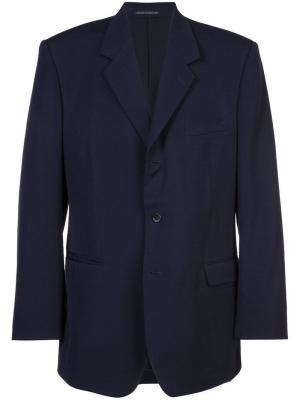 Пиджак Yohji Yamamoto. Цвет: синий