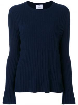 Расклешенный свитер Allude. Цвет: синий
