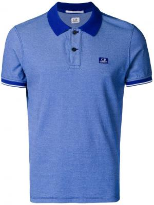 Tonal trim polo shirt CP Company. Цвет: синий