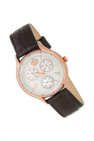 Часы наручные кварцевые ROMANOFF. Цвет: коричневый