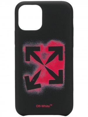 Чехол для iPhone 11 Pro с логотипом Arrows Off-White. Цвет: черный