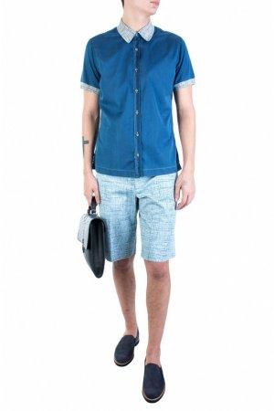 Рубашка Cortigiani. Цвет: синий