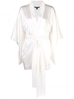 Халат-кимоно с поясом Kiki de Montparnasse. Цвет: белый