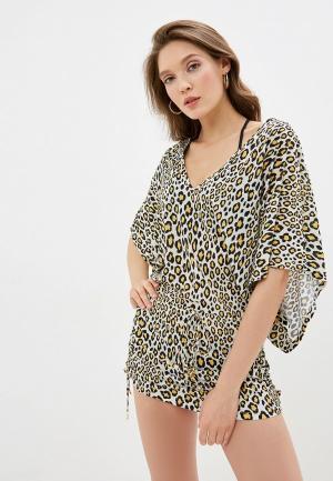 Платье пляжное Luli Fama. Цвет: бежевый