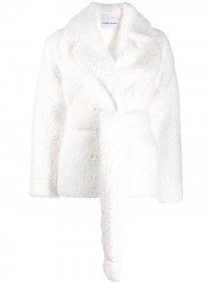 Двубортная куртка с поясом STAND STUDIO. Цвет: белый
