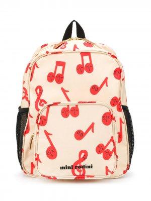 Рюкзак с принтом Mini Rodini. Цвет: нейтральные цвета