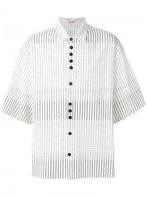 Рубашка в полоску и горошек Damir Doma. Цвет: белый