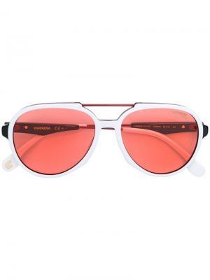 Солнцезащитные очки в оправе авиатор Carrera. Цвет: черный