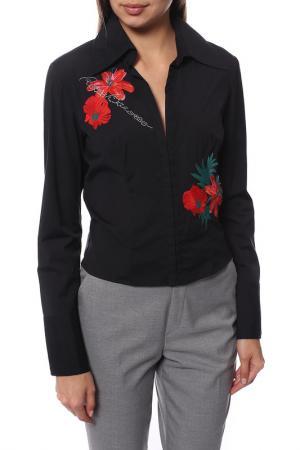Блуза Roccobarocco. Цвет: черный