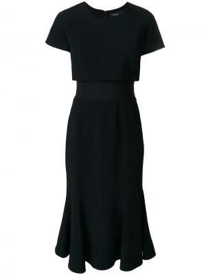 Платье с короткими рукавами Proenza Schouler. Цвет: черный