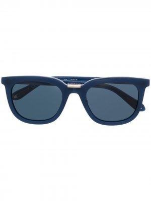Солнцезащитные очки в круглой оправе Linda Farrow. Цвет: синий