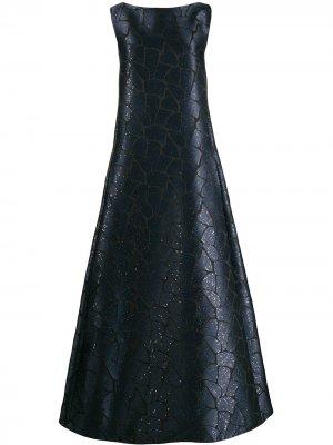 Платье Tomika Talbot Runhof. Цвет: синий