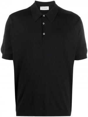 Рубашка поло с короткими рукавами John Smedley. Цвет: черный