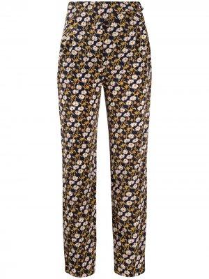 Прямые брюки с цветочным принтом Blazé Milano. Цвет: синий