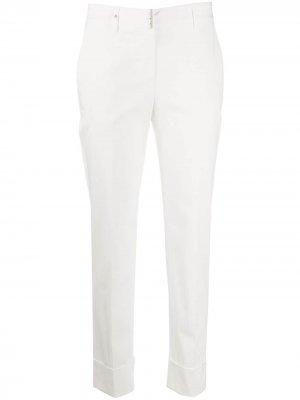 Укороченные брюки прямого кроя Lorena Antoniazzi. Цвет: белый
