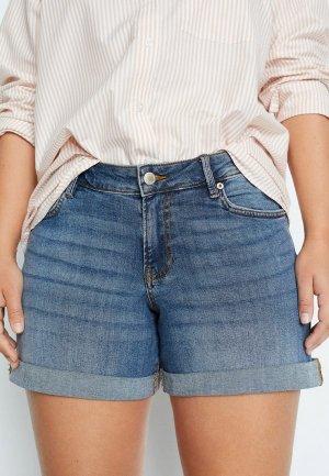 Шорты джинсовые Violeta by Mango. Цвет: голубой