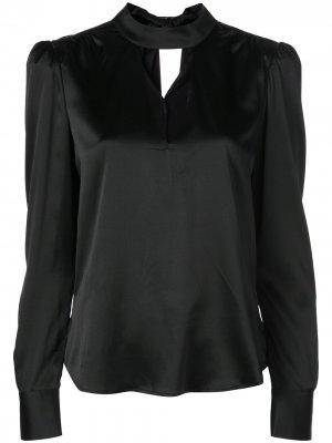 Блузка с вырезными деталями Veronica Beard. Цвет: черный
