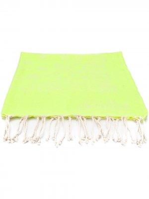 Пляжное полотенце с бахромой Mc2 Saint Barth Kids. Цвет: желтый