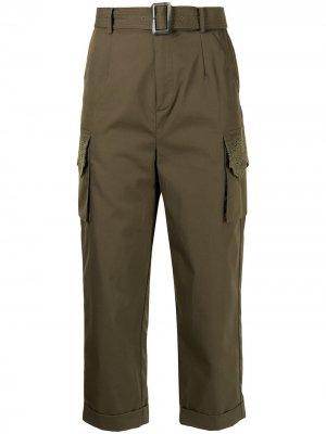 Укороченные брюки с поясом BAPY BY *A BATHING APE®. Цвет: зеленый