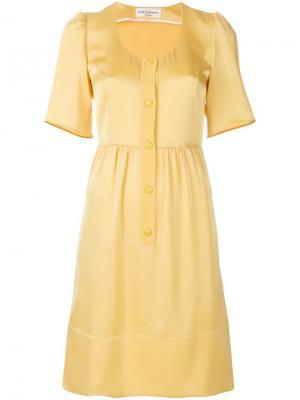 Платье на пуговицах с короткими рукавами Sonia Rykiel. Цвет: желтый