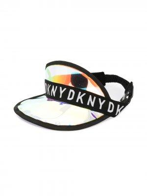 Козырек с логотипом Dkny Kids. Цвет: серебристый