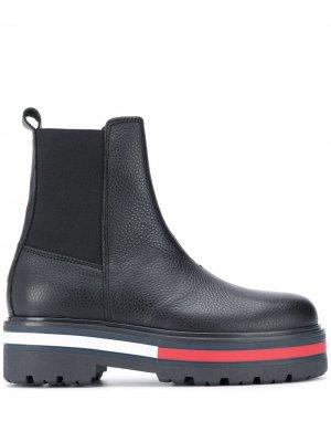 Ботинки на подошве с контрастными полосками Tommy Jeans. Цвет: черный