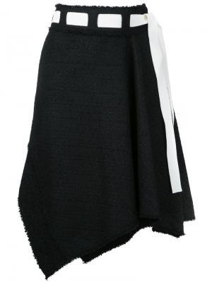 Асимметричная юбка Proenza Schouler. Цвет: черный