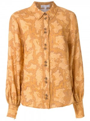 Рубашка с принтом Nk. Цвет: оранжевый