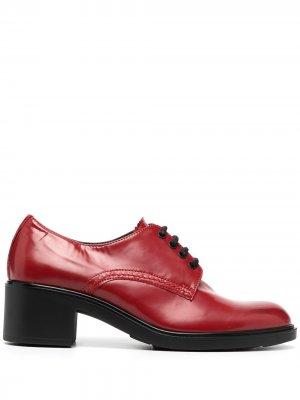 Лакированные туфли на шнуровке Fratelli Rossetti. Цвет: красный