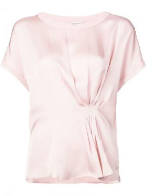 Блузка Linaramma By Malene Birger. Цвет: розовый