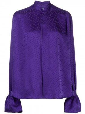 Рубашка в горох AMI Paris. Цвет: фиолетовый